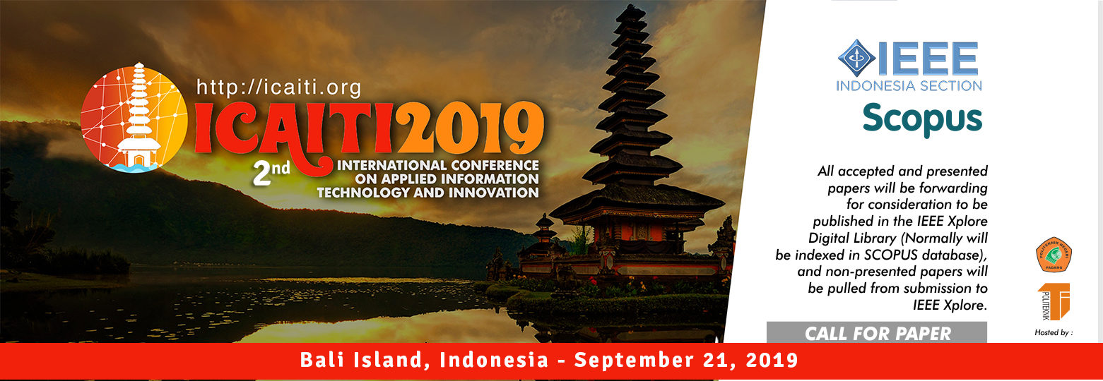 International Conference on Applied Information Technology and Innovation (ICAITI 2019)